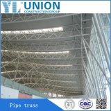 Armação de aço Span Grande Estrutura de aço do telhado para Estrutura de aço do telhado de ginásio /A estação de gás Stadium