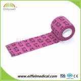 工場印刷の獣医の自己の粘着性がある多彩な凝集の伸縮性がある包帯