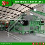 Pneu que esmaga a máquina para recicl a sucata e o pneu do desperdício