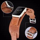 2PCS ha impostato il cinturino di vigilanza pazzesco del cuoio genuino del cavallo per Apple