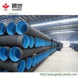 Труба стены двойника HDPE 1 дюйма Perforated для стока подпочвы