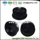 Dissipatore di calore di alluminio nero di Pin del tondo 6063 T5 con ISO9001