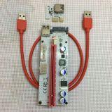 PCI-E expresan el cable del adaptador 008s Btc de la tarjeta de la canalización vertical del suplemento de USB3.0 1X To16X