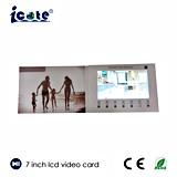 подгонянная 7inch карточка приглашения LCD видео-/карточка подарка/поздравительная открытка