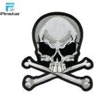 Corrección Shaped de la insignia de la tela del cráneo de encargo directo de la venta de la fábrica