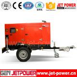 schalldichter Dieselgenerator 40kw mit Rad-elektrischem Generator des Schlussteil-zwei
