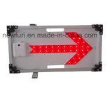 太陽LEDの矢の方向交通標識
