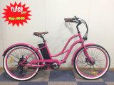 Frauen-Strand-Kreuzer-elektrisches Fahrrad