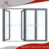 Австралийская стандартная алюминиевая Bi-Складывая дверь с двойным Tempered стеклом