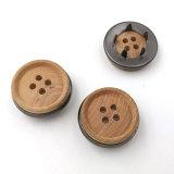 Выгравированный дерева с кнопки совмещения деревянный штырь стопорное кнопки