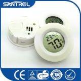 Thermomètre circulaire coloré de bureau d'humidité de la température de Digitals
