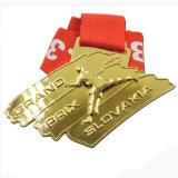 Aangepast Messing die de Zachte Medaille van de Toekenning van de Concurrentie van het Rugby van het Email stempelen