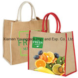 Großhandelszoll gedruckte große Eco freundliche Resusable Jutefaser-Lebensmittelgeschäft-Beutel