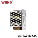 Bloc d'alimentation de télévision en circuit fermé du boîtier aluminium Ms-15W IP20 12V 1.25A 15W