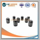 固体石訓練のための炭化物によって先を細くされるボタンビット