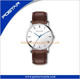 Wristwatch OEM человека кварца кожаный планки способа изготовленный на заказ на заказ