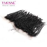 Arricciatura crespa frontale 13.5*4 del Virgin di Yvonne del merletto umano brasiliano dei capelli