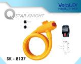 Eバイクおよびバイクのための再設置可能な盗難防止LEDロックを巻いている自己