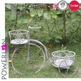 Support de stand d'usine de bicyclette de jardin de fonte grise d'Anitque
