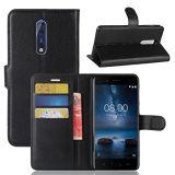 Nokia 8 случае Topace Premium PU защитный футляр из натуральной кожи / Flip случае / Wallet чехол для Nokia 8 / Nokia 9 (черный)