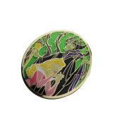 Distintivo duro quadrato di vetro di Pin di metallo dello smalto di prezzi bassi di alta qualità
