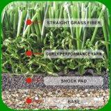 Hoog - dichtheid niet-Vult Kunstmatig Gras voor het Gebied van het Voetbal