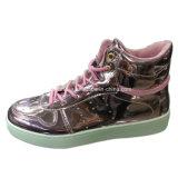 Новые поступления леди ЭБУ СИСТЕМЫ ВПРЫСКА PU обувь для отдыха обувь для женщин (YJ1216-19)