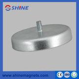 Kleiner Typ Ferrit-Magnet-Unterseite mit Gewinde Rod