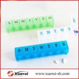 Organizador da caixa do comprimido, planejador do comprimido, caixa 7-Day do comprimido do organizador do comprimido