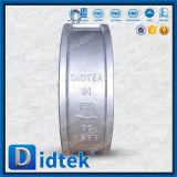 API 6D 24inch van Didtek Klep van de Controle van het Wafeltje van de Plaat van het Roestvrij staal de Dubbele