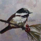 ホーム装飾のためのハンドメイドの重油の鳥のキャンバスの絵画