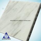 5mmの厚さのAmbryの装飾のための白いヒスイカラー石のベニヤの合成のパネル