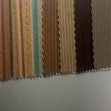 Couro Eco-Friendly do plutônio do Wood-Grain para as bolsas (HSK025)