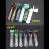 Tubo de queimadores de óleo em vidro colorido crânio tubos de puxador de fumar
