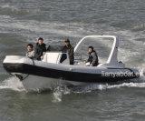 Barco inflável Semi-Rigid do barco do reforço de Liya 25feet