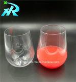 tasse de café en plastique de cuvette en verre de vin de l'animal familier 15oz
