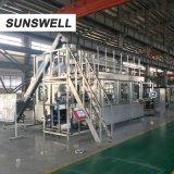 Sunswell, das schönes funkelndes Getränk durchbrennenfüllendes mit einer Kappe bedeckendes Combiblock formt