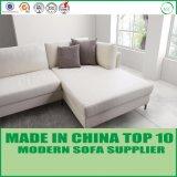 Sofá nórdico moderno do sofá da pena do lazer do couro branco da mobília