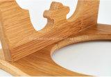 Tazones de fuente de bambú de encargo respetuosos del medio ambiente del animal doméstico
