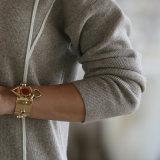 Art-Kaschmir-Strickjacke der Frauen lange, Knitwear Dame