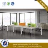 Partition L poste de travail de forme (HX-NJ028) de bureau de portées des meubles 6 en métal