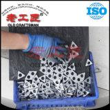 Calço antiderrapante da inserção do CNC do carboneto cimentado do tungstênio