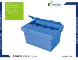 Recipiente Nestable Stackable da caixa plástica com tampa