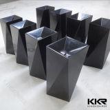 Lavabo indipendente della sala da pranzo nera artificiale del Gel-Cappotto