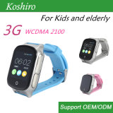 reloj elegante del teléfono de 3G GPS para los ancianos/cabrito