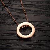 Onlangs toe nam het Ontwerp de Gouden Geplateerde CirkelHalsband van de Liefde van het Roestvrij staal voor Vrouwen