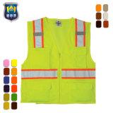 Het gele Vest van de Bezinning van het Vest van de Veiligheid van de Kleur Weerspiegelende