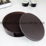 Home와 Kitchen를 위한 PU Leather Drinks Coasters Cup Mug Mat Pad