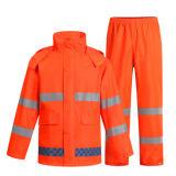높은 시정 PVC 안전 비옷 100%Waterproof Breathabraincoat
