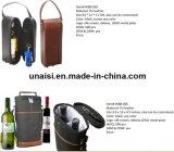 Portador de cuero de PU Bolso Maletín para el vino botella de champán